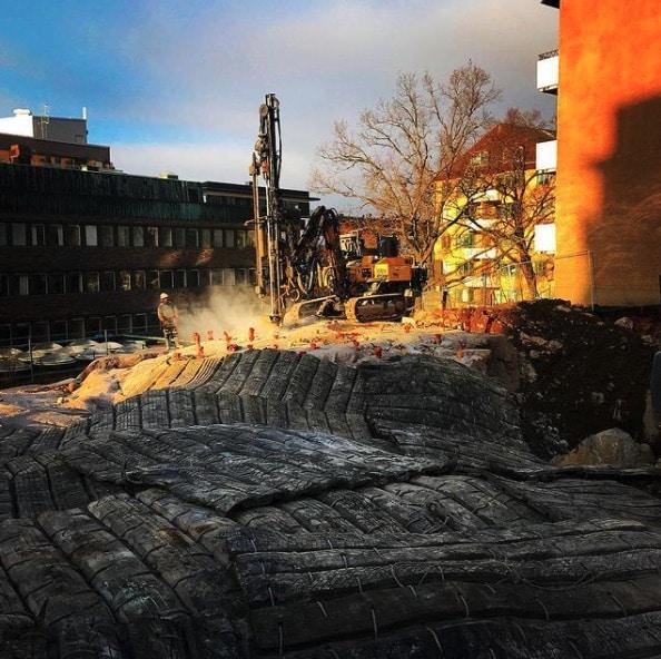 Bergborrning i Solna, Stockholms Län